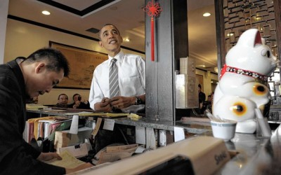 Sharks Hit the Campaign Trail with President Obama